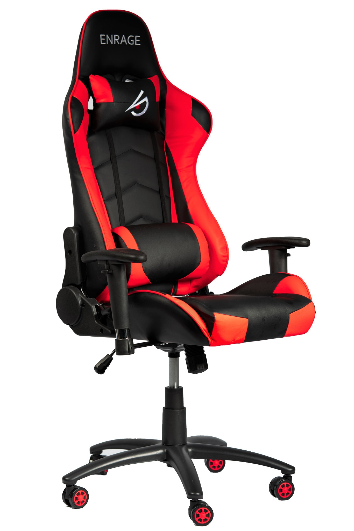 Terrific Enrage Ergonomic Chair Pu Leather Gaming Office Work Desk Black Red Ncnpc Chair Design For Home Ncnpcorg